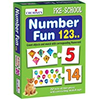 Creative Educational Aids P. Ltd. Number Fun 123 Puzzle (Multi-Color, 40 Pieces)