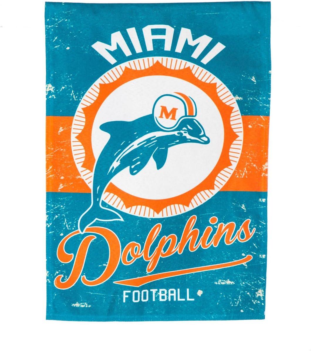Team Sports America 14L3816VINT Miami Dolphins Vintage Linen
