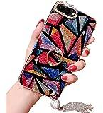 iPhone 6/ 6sケース、豪華ハイブリッドBling GlitterダイヤモンドソフトシリコンゲルゴムBeauty Shiny Sparklingキュート保護カバーCase For Girls Withリングスタンドホルダー iPhone 6/6s