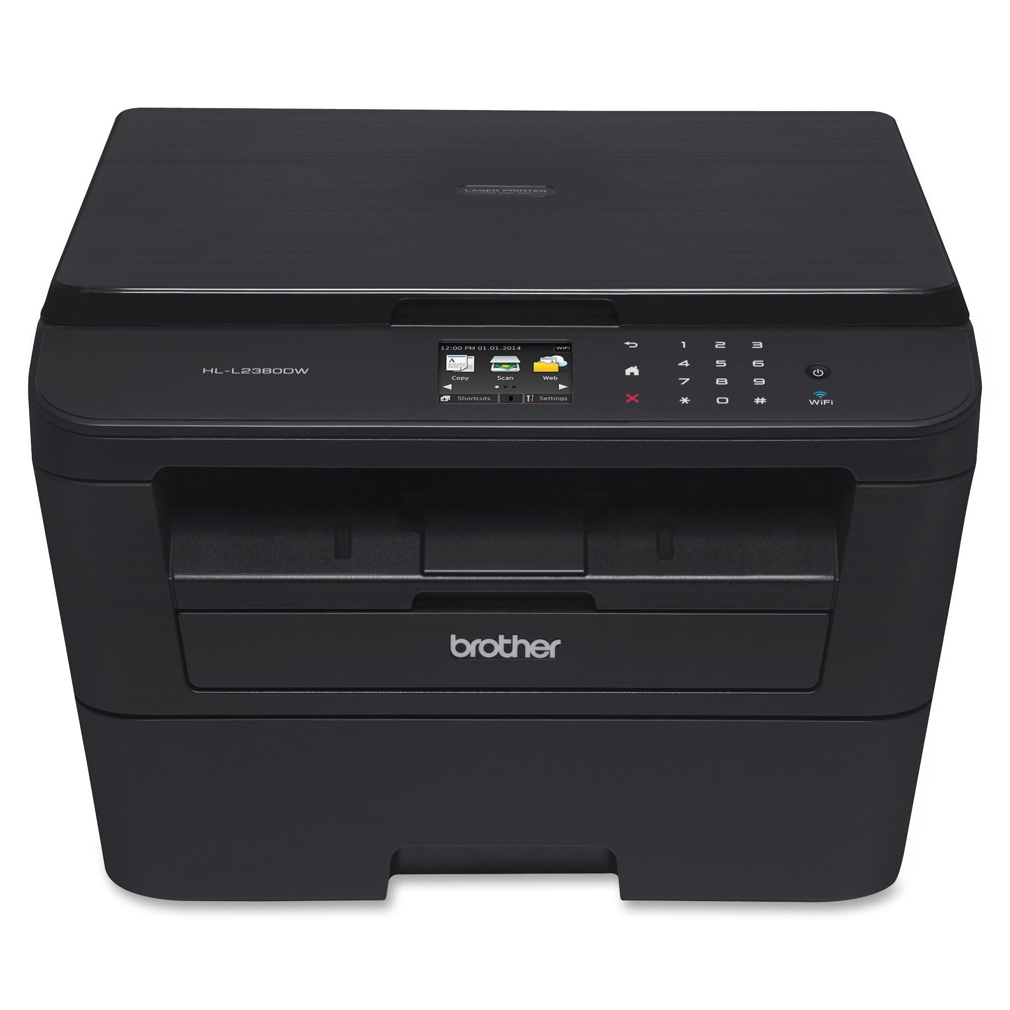 Brother HL-L2380DW Wireless Monochrome Laser Printer, Amazon Dash Replenishment Enabled by Brother