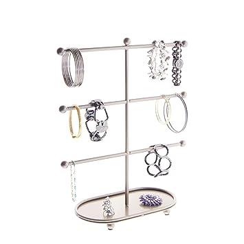 Amazoncom Bracelet Holder Display Stand 3 Tier T Bar Jewelry