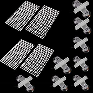 Fully 4 Pcs Aquarium Fish Tank Filter Bottom Isolation Patition Board Filtration Net Divider Holder +