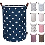DOKEHOM 19-Inches Thickened Large Drawstring Laundry Basket Storage -(Available 19 and 22 Inches in 9 Colors)- with…