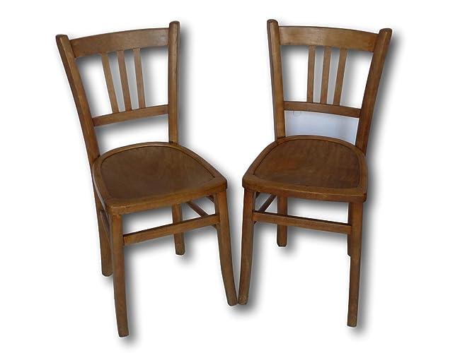 Paire De Chaises Bistrot Luterma Vintage Amazon Fr Handmade