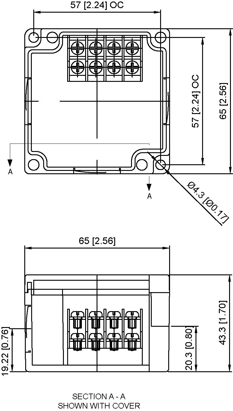 4 Position Grey Terminal Enclosure Side Mounted With Clear Cover Hbl2323 Wiring Diagram