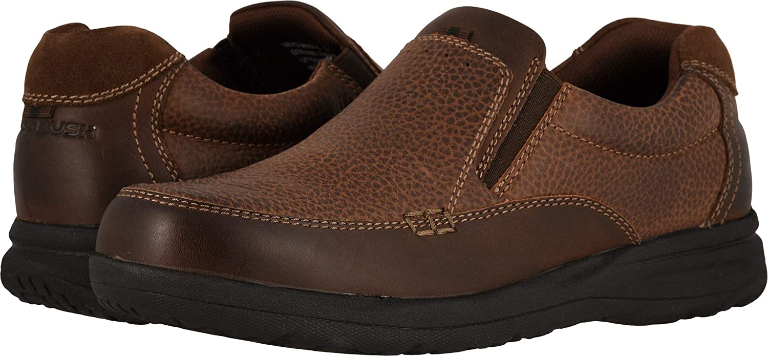 EE Nunn Bush Cam Moc Toe Slip-On Brown Crazy Horse 8 W