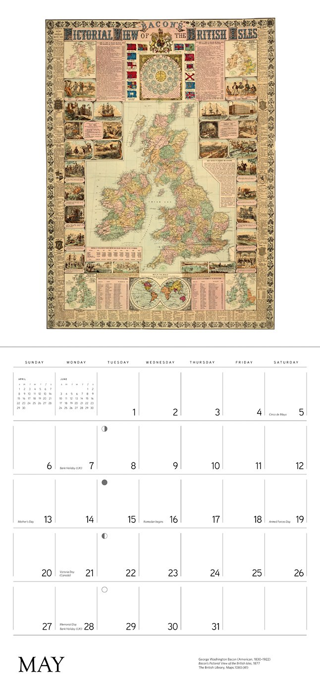 Antique Maps 2018 Wall Calendar by Pomegranate