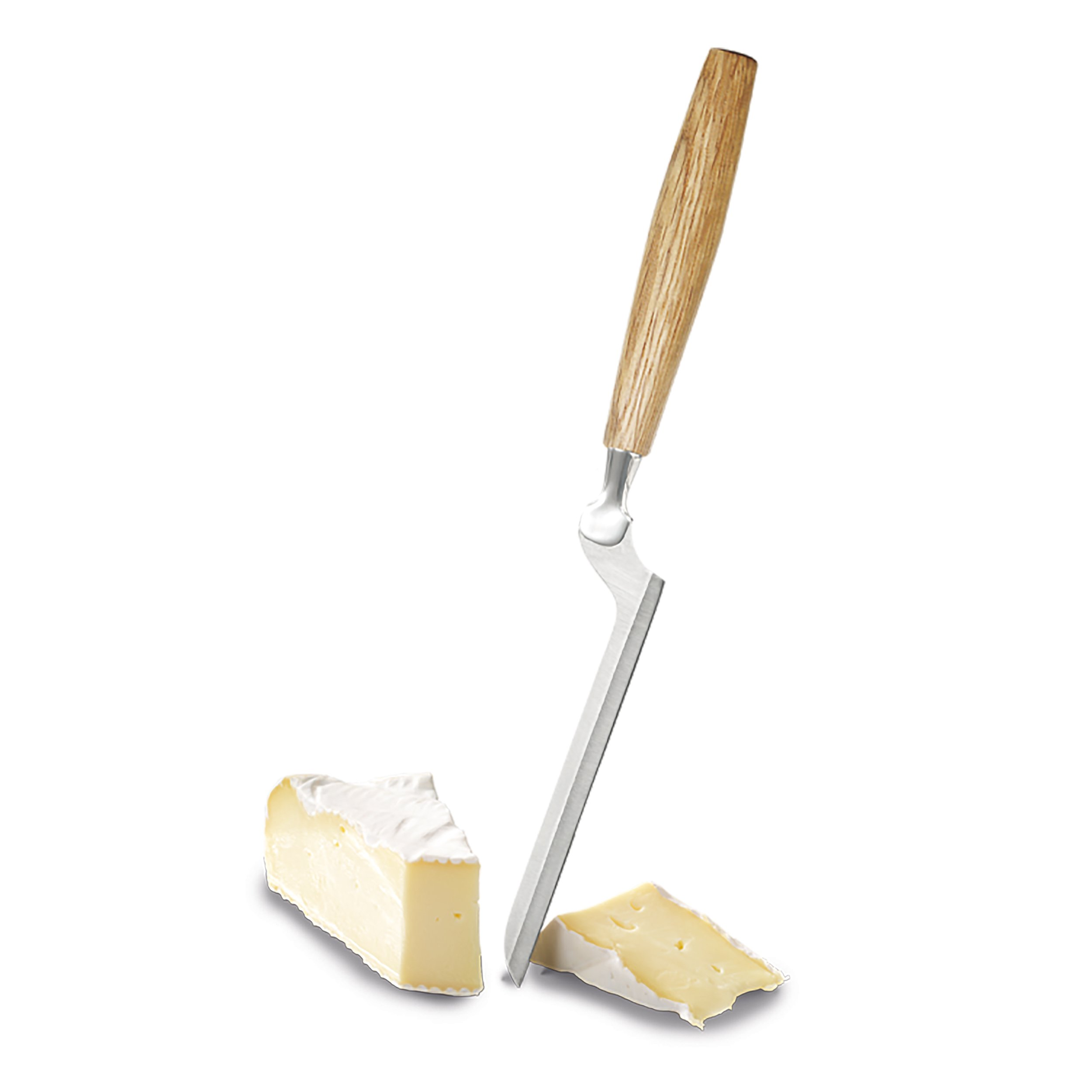 Boska Holland Soft Cheese Knife with European Oak Wood Handle, Slim Blade for Brie, 10 Year Guarantee, Life Collection