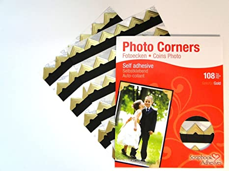Transparent Clear White Self Adhesive Photo Corners Corner Stickers 200 pieces