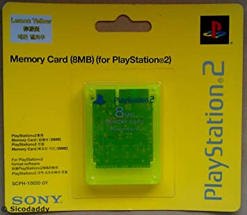 Amazon.com: Sony Playstation 2 PS2 8 MB tarjeta de memoria ...