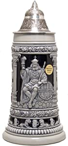 Gambrinus King of Beers LE Blue Relief German Beer Stein .75L Made in Germany