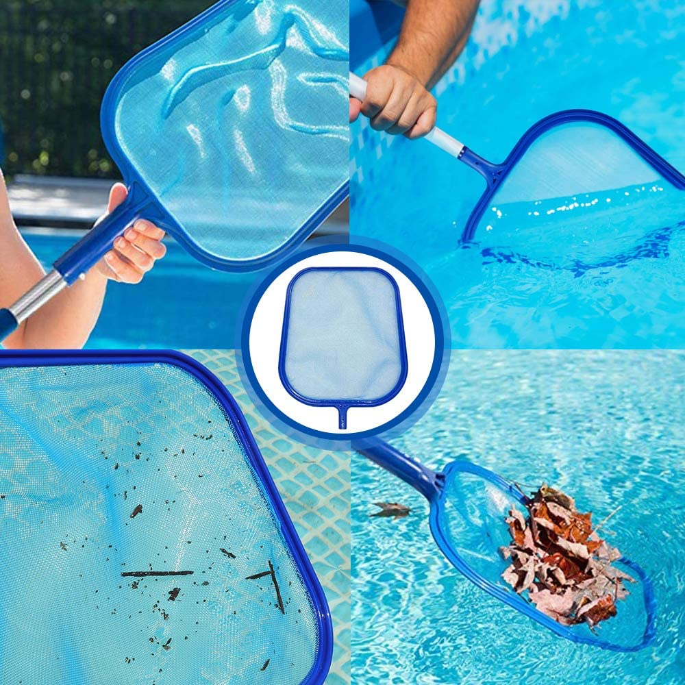 Garden Pond Hot Tub and Spa MEckily Swimming Pool Skimmer,Pool Leaf Skimmer Fine Mesh Skimming Pool,With 42-inch telescopic rod,Suitable for Cleaning Swimming Pool