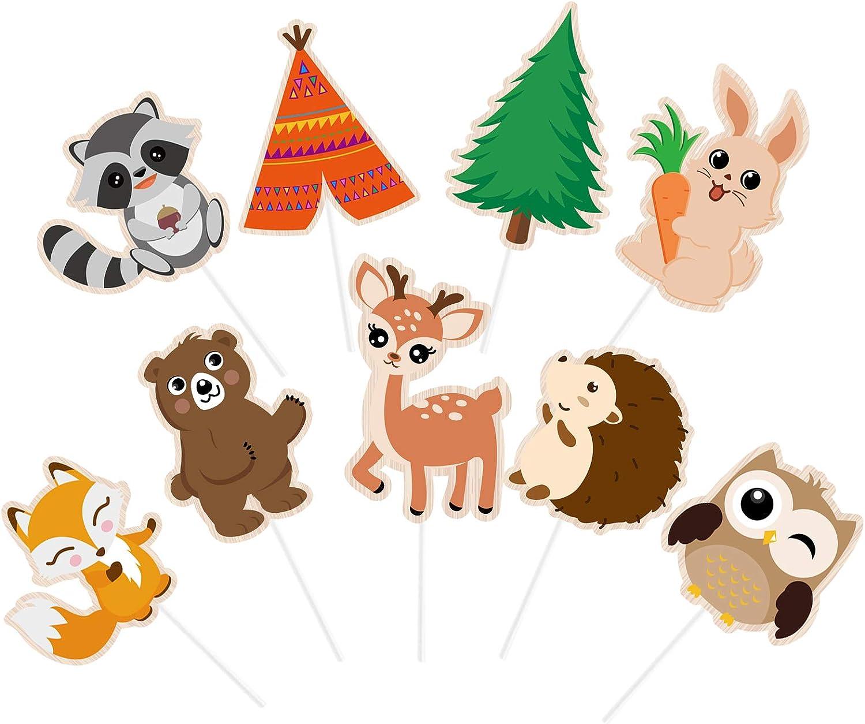 Woodland animal forest theme cake topper baby shower birthday