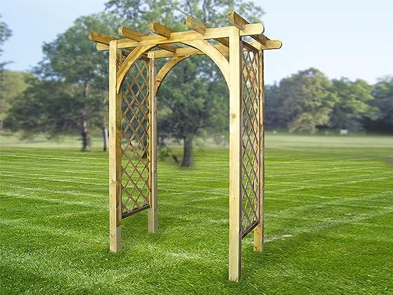 Impresionante horizonte arquear madera sólida - jardín arcos ...