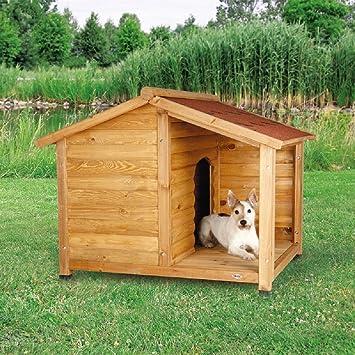 Caseta de madera para perro, estilo cabina (pequeño): Amazon.es: Productos para mascotas