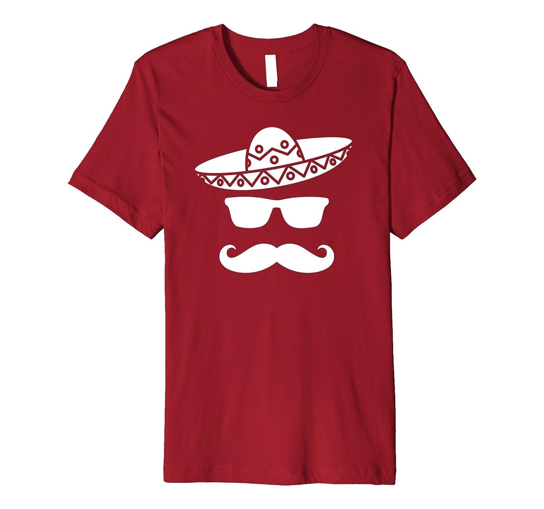 Cinco de Mayo Party T-Shirt Sombrero Moustache Mexican-alottee gift