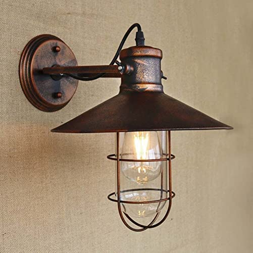 BAYCHEER HL421422 Industrial Retro Vintage Style Single Light Antique Metal Copper Nautical Wall Sconce Wall Light lamp