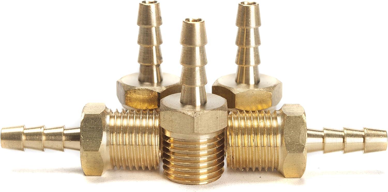 Generic en laiton barbel/é Raccord coupleur//connecteur m/âle BSPT x Tuyau Barb carburant Gaz Eau