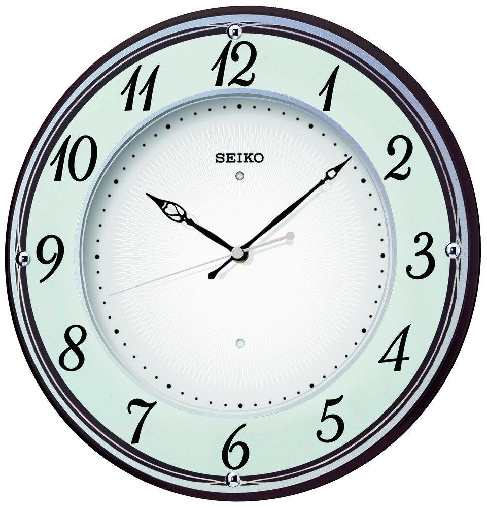 セイコー クロック 掛け時計 電波 アナログ 木枠 薄茶 KX372B SEIKO B00B1ND2PA