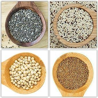 Portal Cool Granos antiguas; Grow Your Own (Serie # 1) Chia / Quinoa / sorgo / Semillas de teff: Amazon.es: Alimentación y bebidas