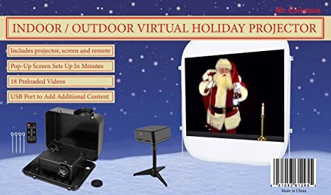 Mr Christmas Projector.Amazon Com Mr Christmas Virtual Holiday Projector With 18