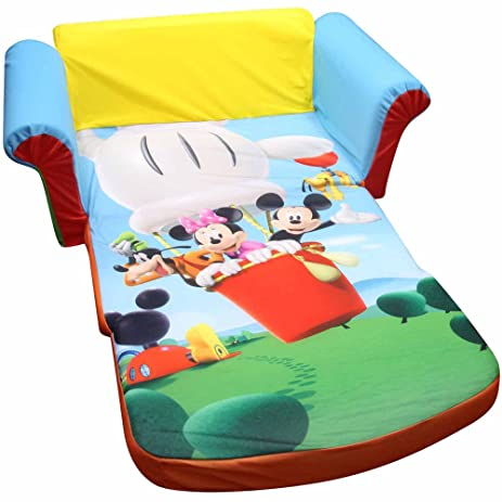 Amazoncom 2in1 Flip Open Sofa and Lounger Mickey Mouse Club