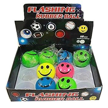 LED Flummi Hüpfball Springball 8x Fussball-Gummiball Geschenk Party Mitgebsel