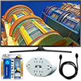 """Samsung UN55KU6290 - 55"""" Class 6-Series 4K Ultra HD Smart LED TV w/ Accessory Bundle includes TV, Screen Cleaning Kit, 6 Outlet Wall Tap w/ 2 USB Ports and HDMI to HDMI Cable 6'"""
