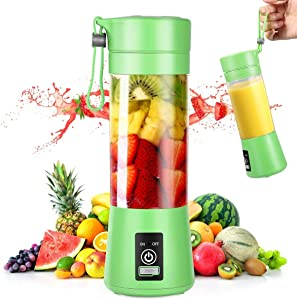 Portable Blender, Personal Mini Blender with 380ML for Smoothies and Shakes, USB Rechargeable Blender for Home, Kitchen, Office, Travel, Gym, Picnic