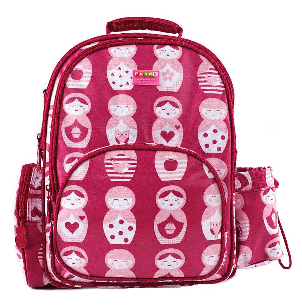 Penny Scallan Children's BPA Free Backpack - Pink Matryoshka Russian Nesting Doll