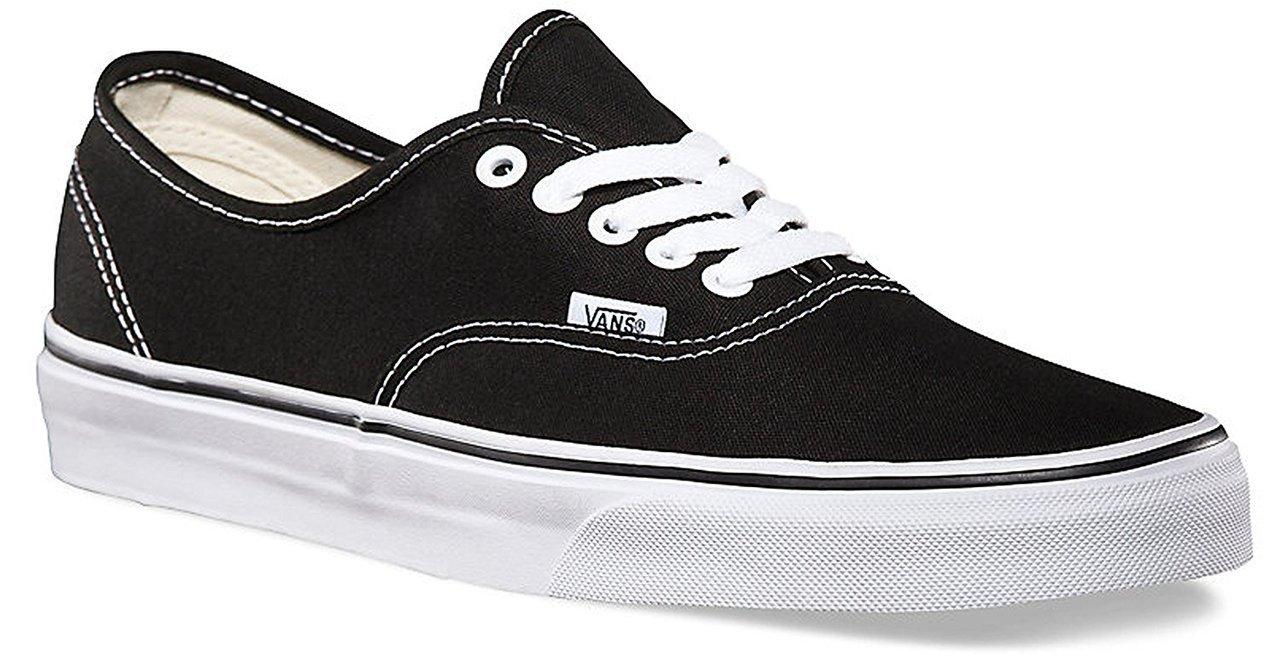 Vans Classic Authentic Black Canvas Skate Shoes Black 9 D(M) US