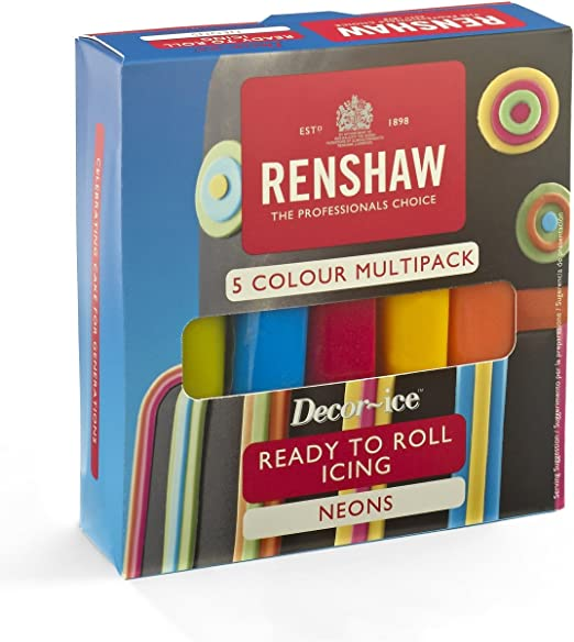 Renshaw Multipack Ready To Roll 5 x 100g Fondant Icing Sugarpaste Multi Pack