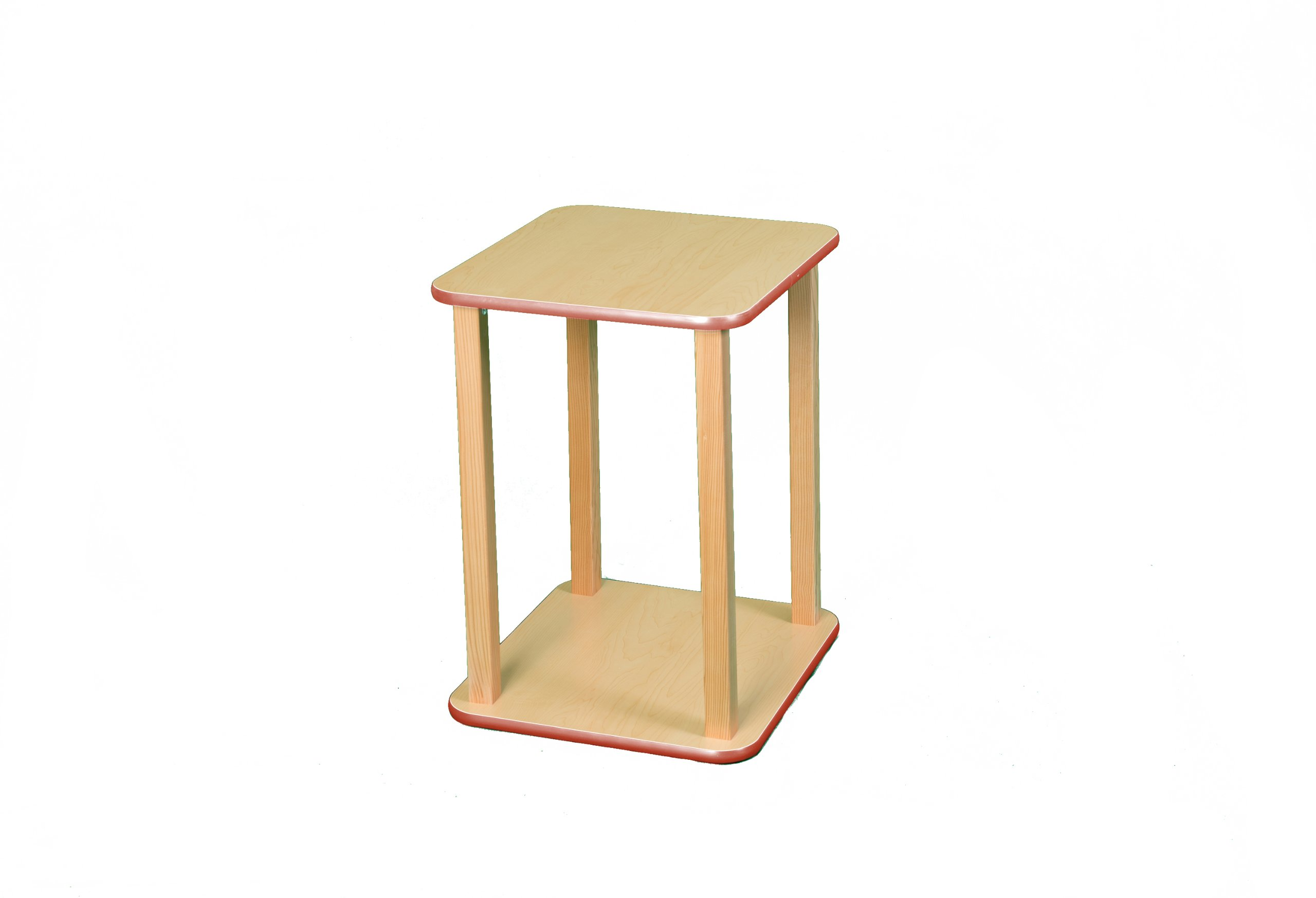 Wild Zoo Furniture CPU and Printer Stand, Maple/Red