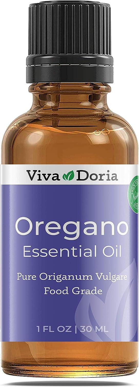 Viva Doria 100% Pure Oregano Essential Oil, Undiluted, Therapeutic - Food Grade, 30 mL (1fl oz)