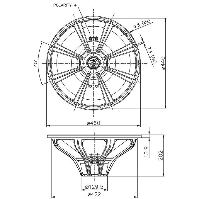 Amazon Com Pair Faital Pro 18hp1020 8ohm Neodymium 18 Subwoofer
