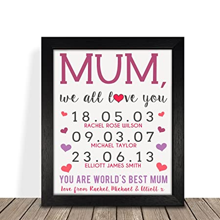 Personalised Presents Gifts For Step Mum Mummy Mother Grandma From Son Daughter Kids Birthday Mothers Day