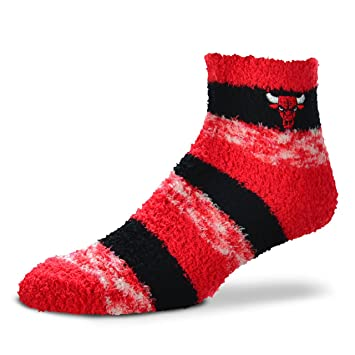 For Bare Feet NBA RMC Pro rayas Fuzzy Sleep calcetines, Chicago Bulls