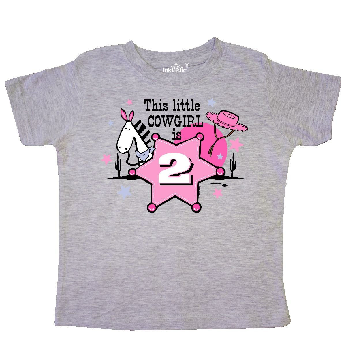 inktastic Little Cowgirl 2nd Birthday Toddler T-Shirt