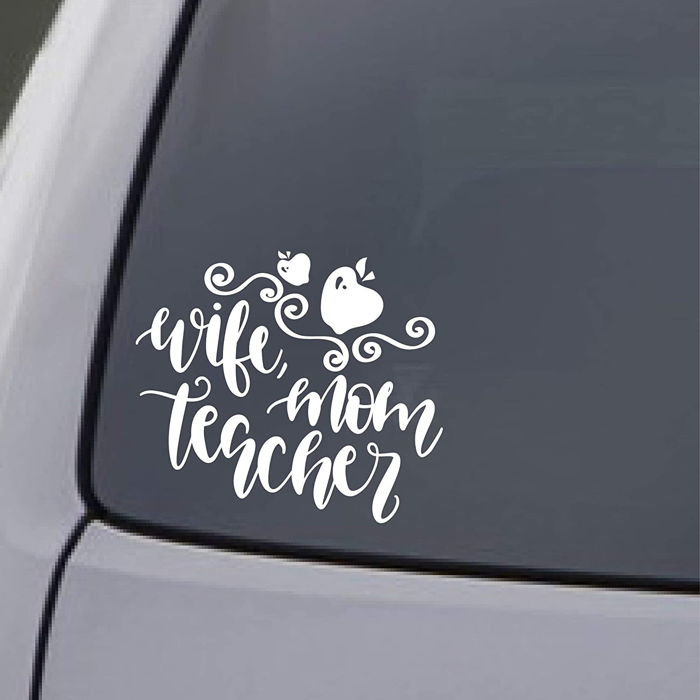 Teacher Wife Mom Car Sticker Decal Window Truck Laptop Gift