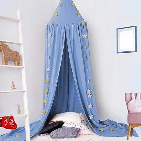 ZYHBJH Moskitonetz Baby Betthimmel Kinder Baldachin M/ückennetz M/ückenschutz Insektenschutz Insektennetz Bett Schlafzimmer Kids Bed Canopy,Grau