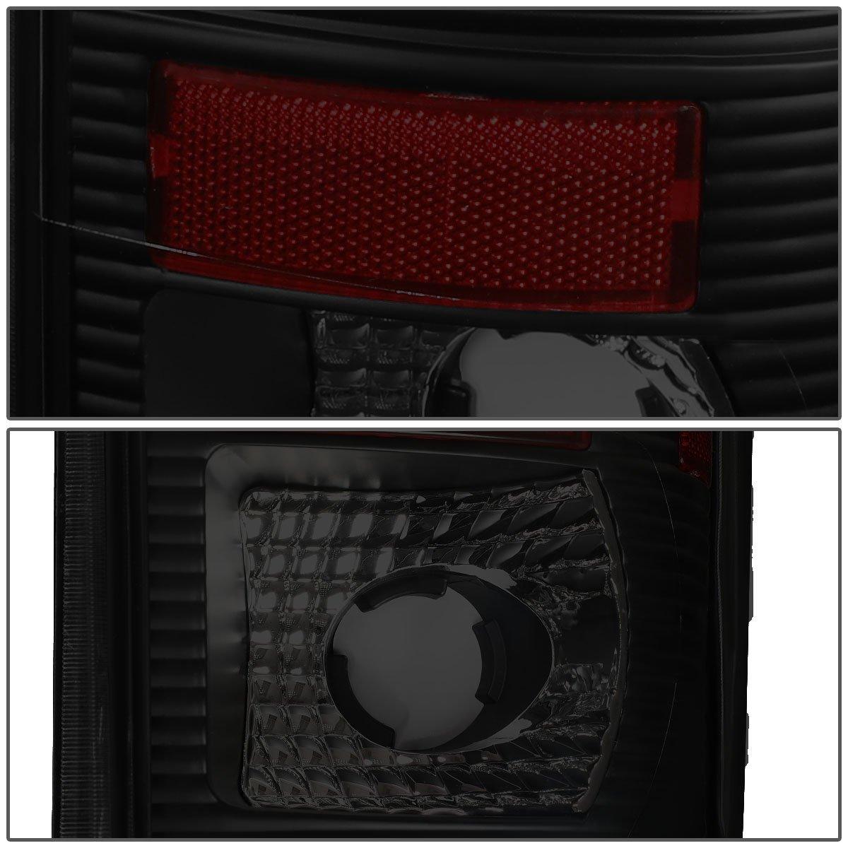 DNA Motoring TL-F15097-LED-RD3D-BK-SM 3D LED Tail Light Driver /& Passenger Side