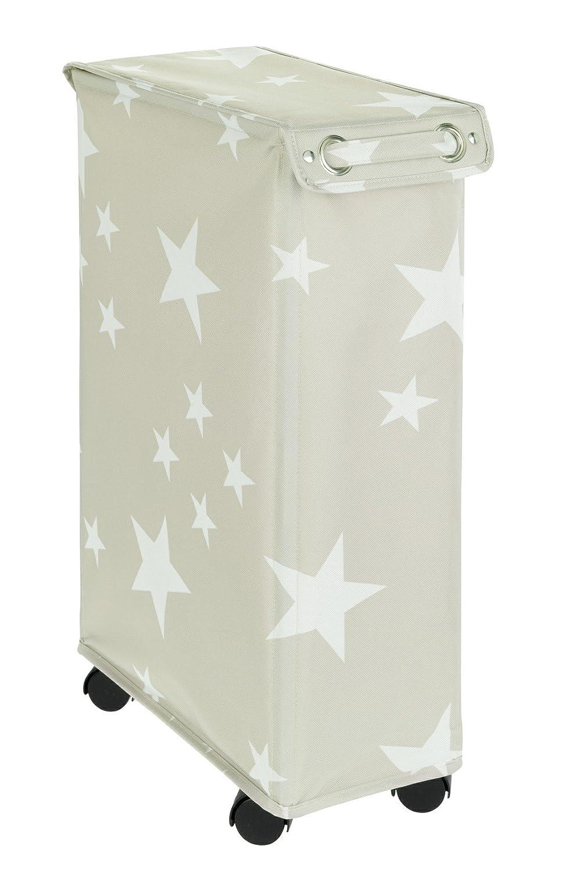 Wenko Corno Stella Laundry Basket Laundry Basket with Lid, Capacity 43 L, Polyester, multicoloured, 40 x 18 x 60 cm B07B5FTXWF