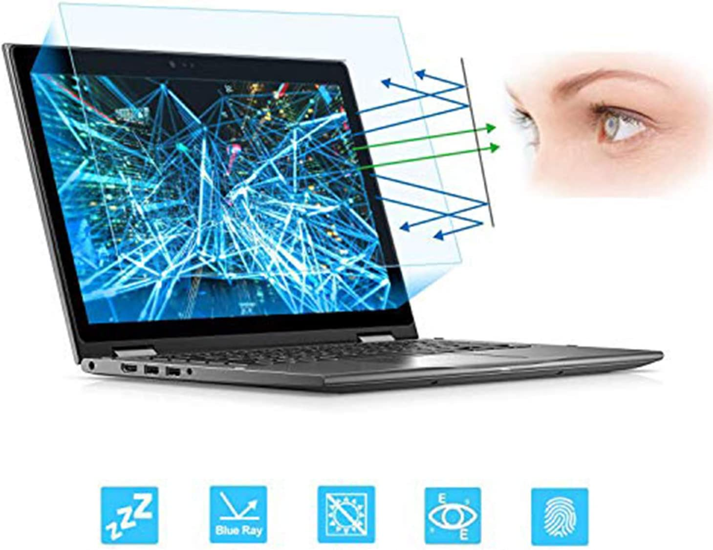 "13.3"" Laptop Screen Protector -Blue Light Filter, Eye Protection Blue Light Blocking Anti Glare Screen Protector for All 13.3"