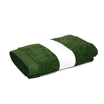 Aquanatura-Toalla de lavabo 50 x 100 cm, PURE, color verde caqui, 550 g/m2.: Amazon.es: Hogar