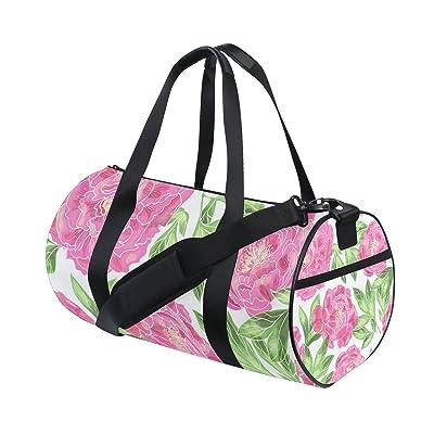 Gym Bag Roses Leaf Sports Travel Duffel Lightweight Canvas Bags