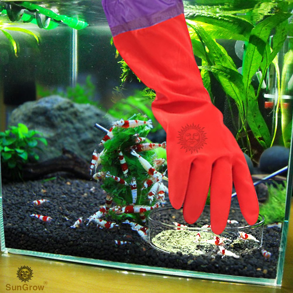 2 Aquarium Water Change Gloves by SunGrow (20\