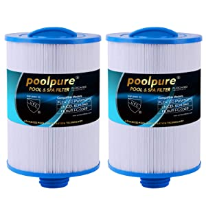 POOLPURE Replacement for Waterway Front Access Skimmer, Pleatco PWW50P3, PWW50, Unicel 6CH-940, Waterway Plastics 817-0050, Filbur FC-0359, 25252, 378902, 03FIL1400 Spa Filter, 2 Pack