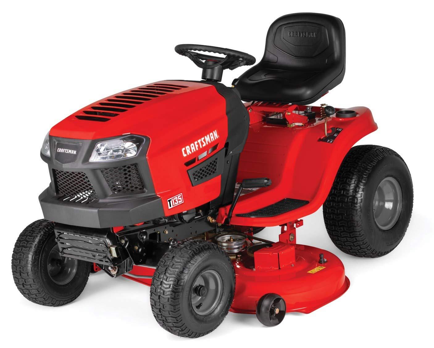 Craftsman T135 18.5 HP Briggs & Stratton 46-Inch Gas Powered Riding Lawn Mower