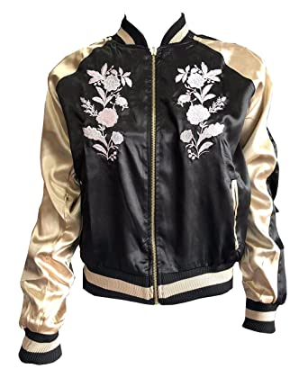 Ladies Brave Soul Floral Reversible Bomber Jacket Womens Long Sleeve