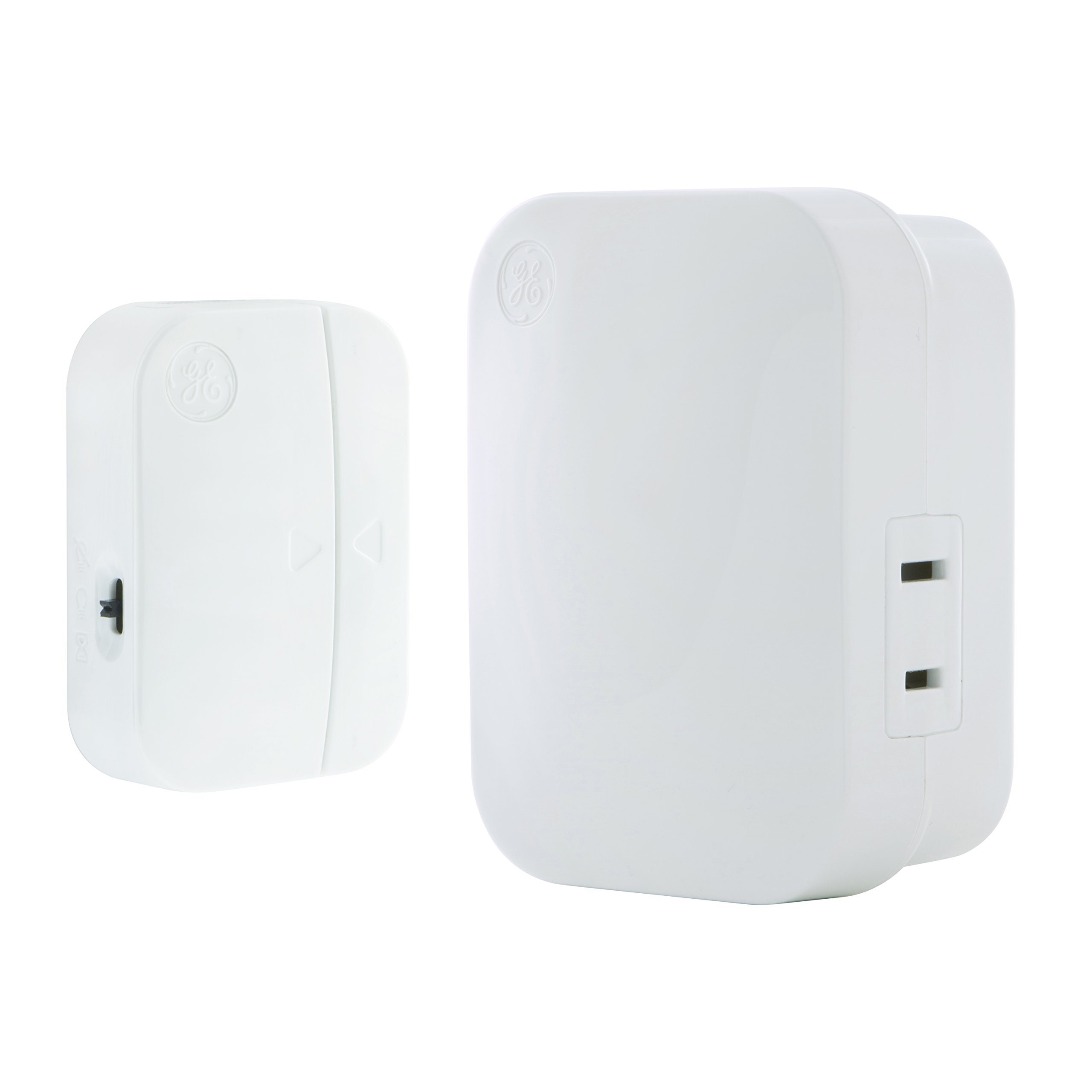 GE mySelectSmart Wireless Light Control Door Entry Contact Sensor, On/Off or Timed, 1 Outlet, 150 ft. Range from Plug-In Receiver, Ideal for Lamps & Indoor Lighting, No Wiring Needed, 36236